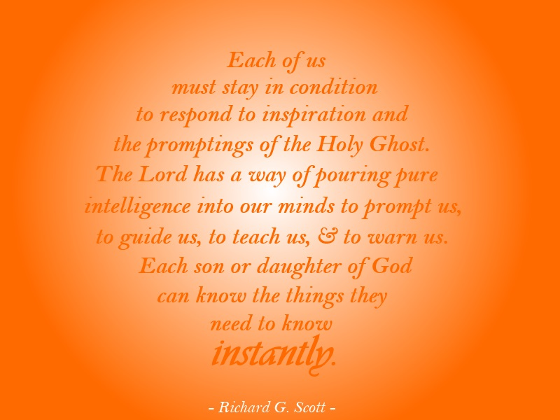 holy ghost quote lds