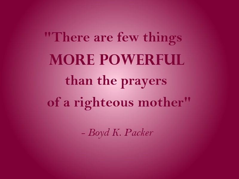 prayers of righteous mother