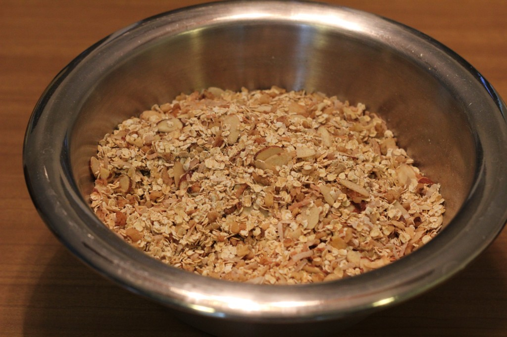 how much quick oats does granola call for