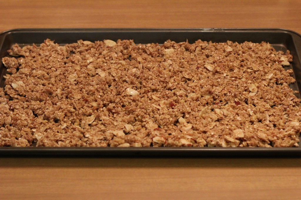 how to spread walnut granola