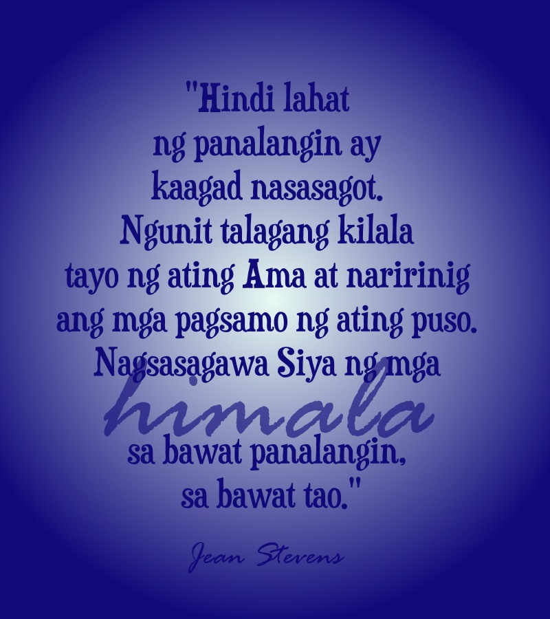 panalangin quote himala god