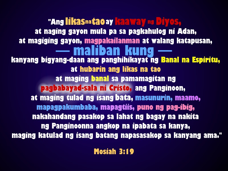 lds tagalog quotes
