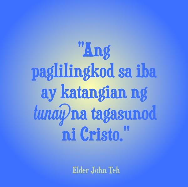 paglilingkod pag-ibig christian quote