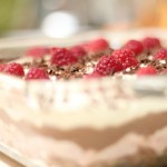 Raspberry nutella pudding cake