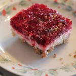 Raspberry Cheesecake Salad with Pretzel Crust