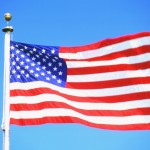 american flag pole waving V343