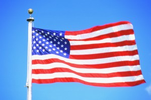 american flag pole waving V343