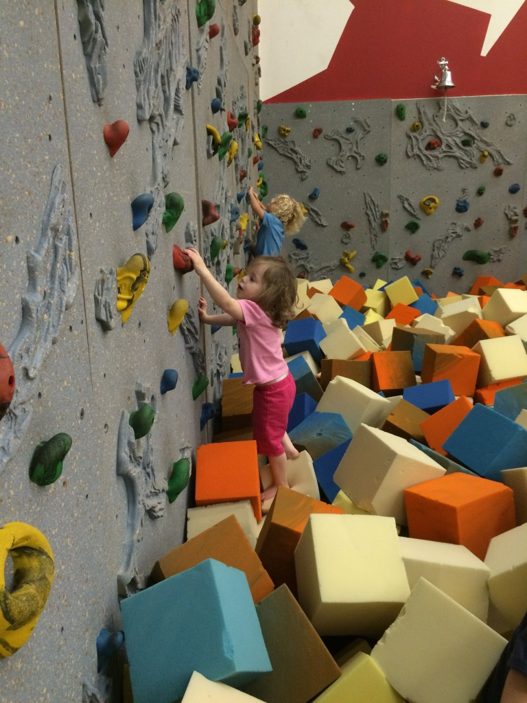 foam pit rock climbing wall orem