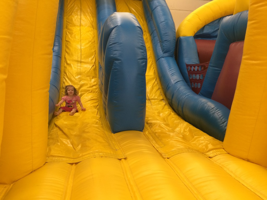 inflatable double slide twin slide bounce house