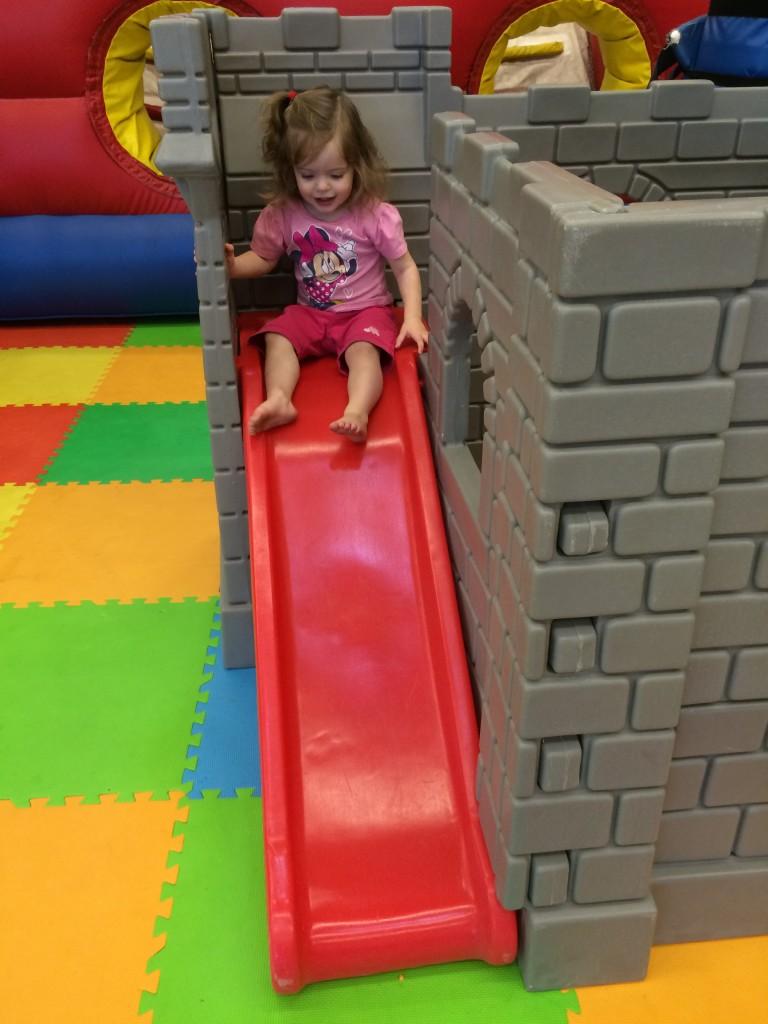 slide castle bounce house fun