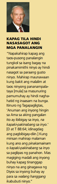 bakit di nasasagot ng Diyos ang panalangin ko quotes