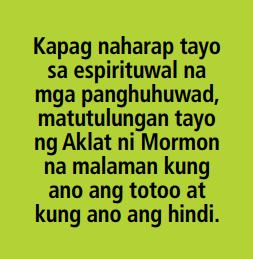 totoo ba? aklat ni mormon tagalog quotes lds