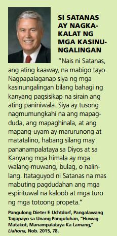satanas kasinungalingan tagalog quote lds