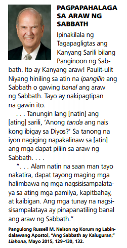 sabbath linggo banal tagalog quotes