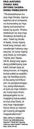 pag-aayuno pasting tagalog quotes