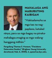 mabubuting kaibigan lds tagalog quote monson