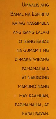 banal na espiritu tagalog quotes